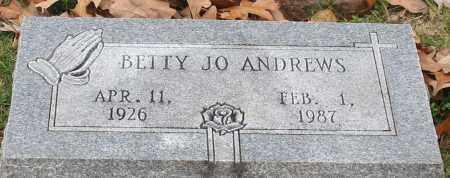 ANDREWS, BETTY JO - Garland County, Arkansas   BETTY JO ANDREWS - Arkansas Gravestone Photos