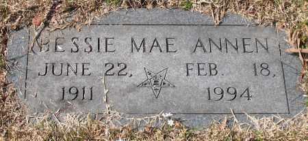 ANNEN, BESSIE MAE - Garland County, Arkansas | BESSIE MAE ANNEN - Arkansas Gravestone Photos