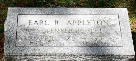 APPLETON, EARL R. - Garland County, Arkansas | EARL R. APPLETON - Arkansas Gravestone Photos