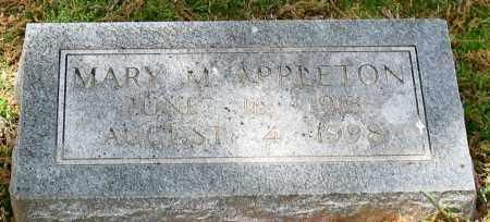 APPLETON, MARY M. - Garland County, Arkansas   MARY M. APPLETON - Arkansas Gravestone Photos