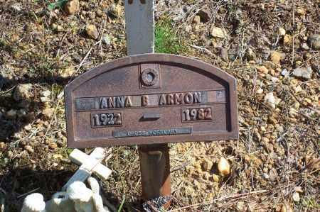 ARMON, ANNA B. (CLOSE UP) - Garland County, Arkansas | ANNA B. (CLOSE UP) ARMON - Arkansas Gravestone Photos