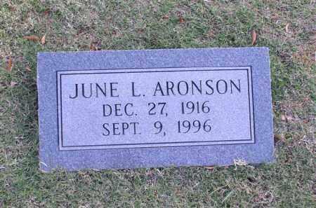 ARONSON, JUNE L. - Garland County, Arkansas | JUNE L. ARONSON - Arkansas Gravestone Photos