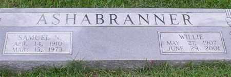 ASHABRANNER, WILLIE - Garland County, Arkansas | WILLIE ASHABRANNER - Arkansas Gravestone Photos