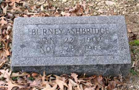 ASHBRIDGE, BURNEY - Garland County, Arkansas   BURNEY ASHBRIDGE - Arkansas Gravestone Photos