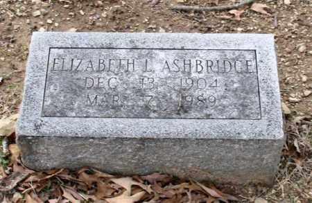 ASHBRIDGE, ELIZABETH L. - Garland County, Arkansas | ELIZABETH L. ASHBRIDGE - Arkansas Gravestone Photos
