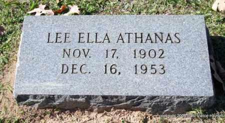 ATHANAS, LEE ELLA - Garland County, Arkansas | LEE ELLA ATHANAS - Arkansas Gravestone Photos