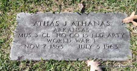 ATHANAS (VETERAN WWI), ATHAS J - Garland County, Arkansas | ATHAS J ATHANAS (VETERAN WWI) - Arkansas Gravestone Photos