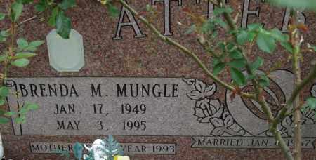 MUNGLE ATTEBURY, BRENDA M. (CLOSE UP) - Garland County, Arkansas | BRENDA M. (CLOSE UP) MUNGLE ATTEBURY - Arkansas Gravestone Photos