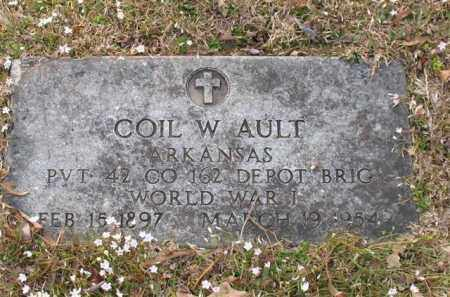 AULT (VETERAN WWI), COIL W - Garland County, Arkansas | COIL W AULT (VETERAN WWI) - Arkansas Gravestone Photos