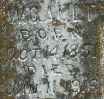 AULT, W. C. (CLOSE UP) - Garland County, Arkansas | W. C. (CLOSE UP) AULT - Arkansas Gravestone Photos