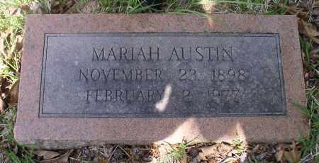 AUSTIN, MARIAH - Garland County, Arkansas | MARIAH AUSTIN - Arkansas Gravestone Photos