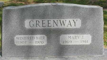 GREENWAY, MARY J. - Garland County, Arkansas | MARY J. GREENWAY - Arkansas Gravestone Photos