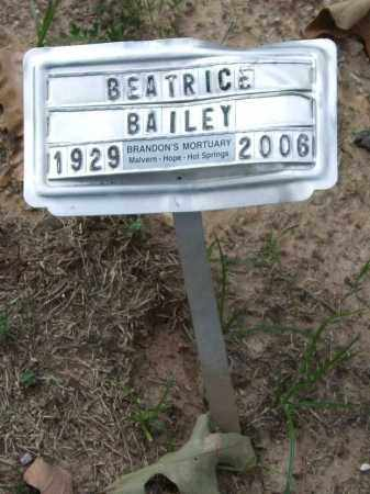 BAILEY, BEATRICE - Garland County, Arkansas | BEATRICE BAILEY - Arkansas Gravestone Photos