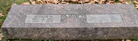 BAILEY, JOSEPH W. - Garland County, Arkansas | JOSEPH W. BAILEY - Arkansas Gravestone Photos