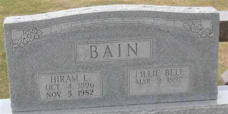 BAIN, LILLIE BELL - Garland County, Arkansas | LILLIE BELL BAIN - Arkansas Gravestone Photos
