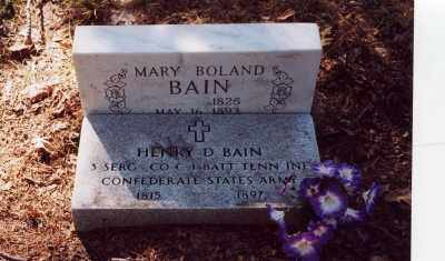 BAIN (VETERAN CSA), HENRY D - Garland County, Arkansas | HENRY D BAIN (VETERAN CSA) - Arkansas Gravestone Photos