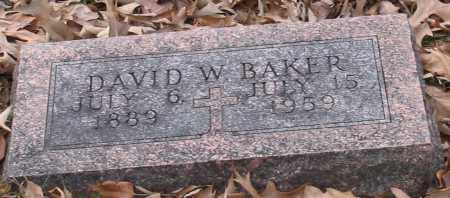 BAKER, DAVID W. - Garland County, Arkansas | DAVID W. BAKER - Arkansas Gravestone Photos