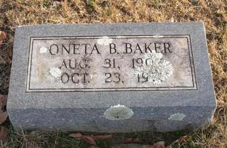 BAKER, ONETA B. - Garland County, Arkansas | ONETA B. BAKER - Arkansas Gravestone Photos