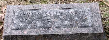 BAKER, ZEMMA SALLY - Garland County, Arkansas | ZEMMA SALLY BAKER - Arkansas Gravestone Photos