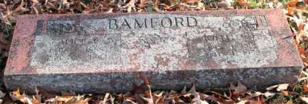 BAMFORD, WILLIAM J. - Garland County, Arkansas | WILLIAM J. BAMFORD - Arkansas Gravestone Photos