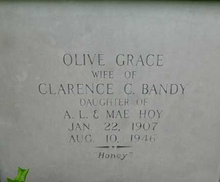 HOY BANDY, OLIVE GRACE - Garland County, Arkansas   OLIVE GRACE HOY BANDY - Arkansas Gravestone Photos