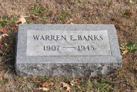 BANKS, WARREN E. - Garland County, Arkansas | WARREN E. BANKS - Arkansas Gravestone Photos