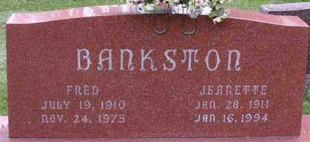 BANKSTON, JEANETTE - Garland County, Arkansas | JEANETTE BANKSTON - Arkansas Gravestone Photos