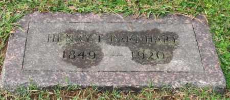 BARNHART, HENRY F. - Garland County, Arkansas   HENRY F. BARNHART - Arkansas Gravestone Photos