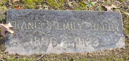 BARRY, FRANCES EMILY - Garland County, Arkansas | FRANCES EMILY BARRY - Arkansas Gravestone Photos