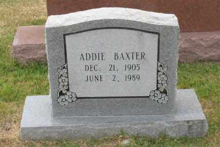 BAXTER, ADDIE - Garland County, Arkansas | ADDIE BAXTER - Arkansas Gravestone Photos