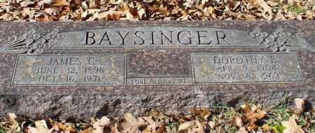 BAYSINGER, JAMES C. - Garland County, Arkansas   JAMES C. BAYSINGER - Arkansas Gravestone Photos