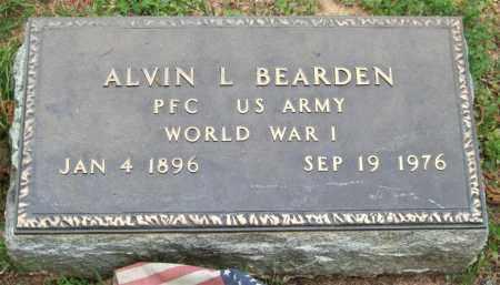 BEARDEN (VETERAN WWI), ALVIN L. - Garland County, Arkansas   ALVIN L. BEARDEN (VETERAN WWI) - Arkansas Gravestone Photos
