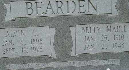 BEARDEN, ALVIN L. (CLOSE UP) - Garland County, Arkansas | ALVIN L. (CLOSE UP) BEARDEN - Arkansas Gravestone Photos