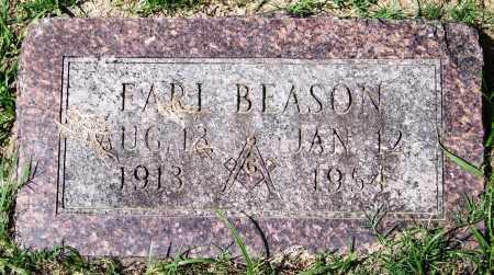 BEASON, EARL - Garland County, Arkansas   EARL BEASON - Arkansas Gravestone Photos