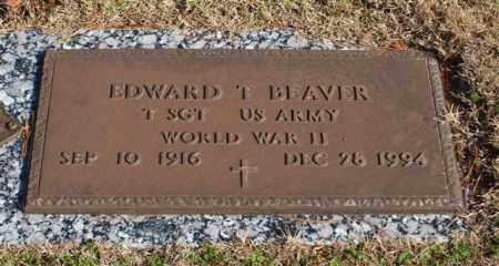 BEAVER (VETERAN WWII), EDWARD T - Garland County, Arkansas | EDWARD T BEAVER (VETERAN WWII) - Arkansas Gravestone Photos