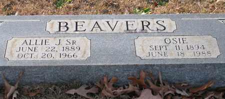 BEAVERS, SR., ALLIE J. - Garland County, Arkansas | ALLIE J. BEAVERS, SR. - Arkansas Gravestone Photos