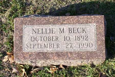 BECK, NELLIE M. - Garland County, Arkansas   NELLIE M. BECK - Arkansas Gravestone Photos