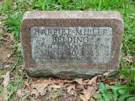 MILLER BELDING, HARRIET - Garland County, Arkansas | HARRIET MILLER BELDING - Arkansas Gravestone Photos