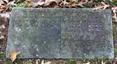 BENDER, MARGREAT - Garland County, Arkansas | MARGREAT BENDER - Arkansas Gravestone Photos