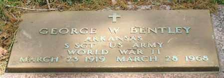 BENTLEY (VETERAN WWII), GEORGE W - Garland County, Arkansas | GEORGE W BENTLEY (VETERAN WWII) - Arkansas Gravestone Photos