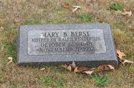 BERST, MARY B. - Garland County, Arkansas | MARY B. BERST - Arkansas Gravestone Photos
