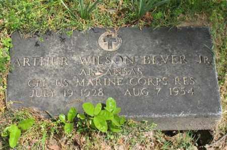 BEVER, JR (VETERAN), ARTHUR WILSON - Garland County, Arkansas | ARTHUR WILSON BEVER, JR (VETERAN) - Arkansas Gravestone Photos