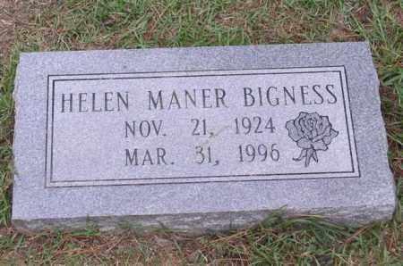 MANER BIGNESS, HELEN - Garland County, Arkansas | HELEN MANER BIGNESS - Arkansas Gravestone Photos