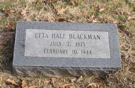 BLACKMAN, ETTA - Garland County, Arkansas | ETTA BLACKMAN - Arkansas Gravestone Photos