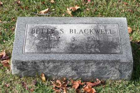 BLACKWELL, BETTY S. - Garland County, Arkansas | BETTY S. BLACKWELL - Arkansas Gravestone Photos