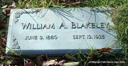 BLAKELEY, WILLIAM A. - Garland County, Arkansas | WILLIAM A. BLAKELEY - Arkansas Gravestone Photos