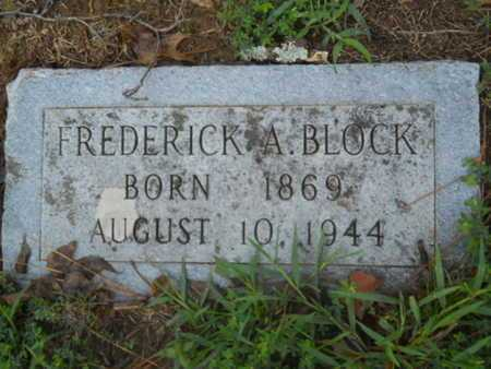 BLOCK, FREDERICK A - Garland County, Arkansas | FREDERICK A BLOCK - Arkansas Gravestone Photos