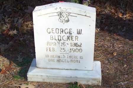 BLOCKER, GEORGE W. - Garland County, Arkansas   GEORGE W. BLOCKER - Arkansas Gravestone Photos