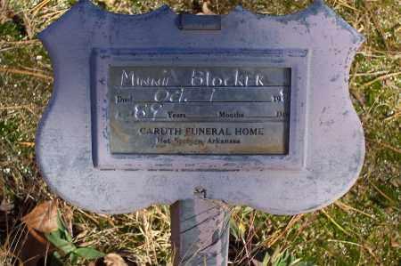 BLOCKER, MINNIE - Garland County, Arkansas   MINNIE BLOCKER - Arkansas Gravestone Photos