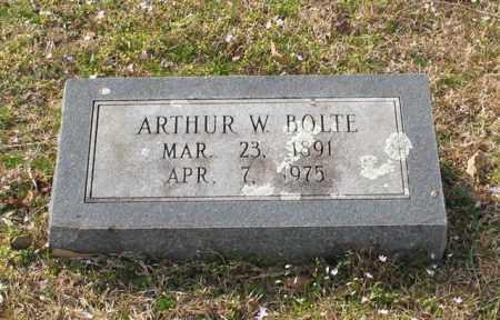 BOLTE, ARTHUR W. - Garland County, Arkansas | ARTHUR W. BOLTE - Arkansas Gravestone Photos